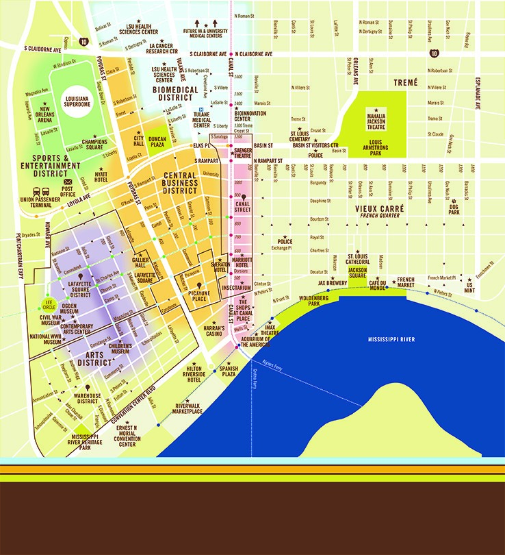 Downtown Map – Downtown New Orleans